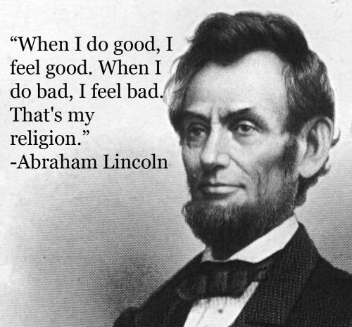 Lincoln quote on doing good
