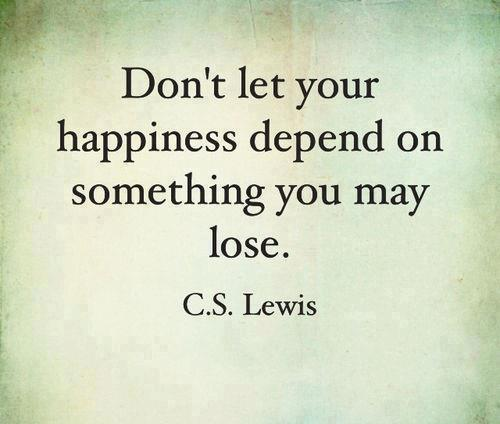C.S. Lewis quote on happiness (happy Friday)