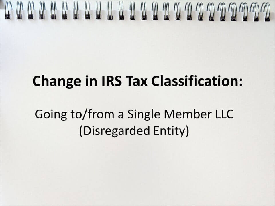 single member LLC tax stuff